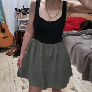Tweed-like skirted Dress